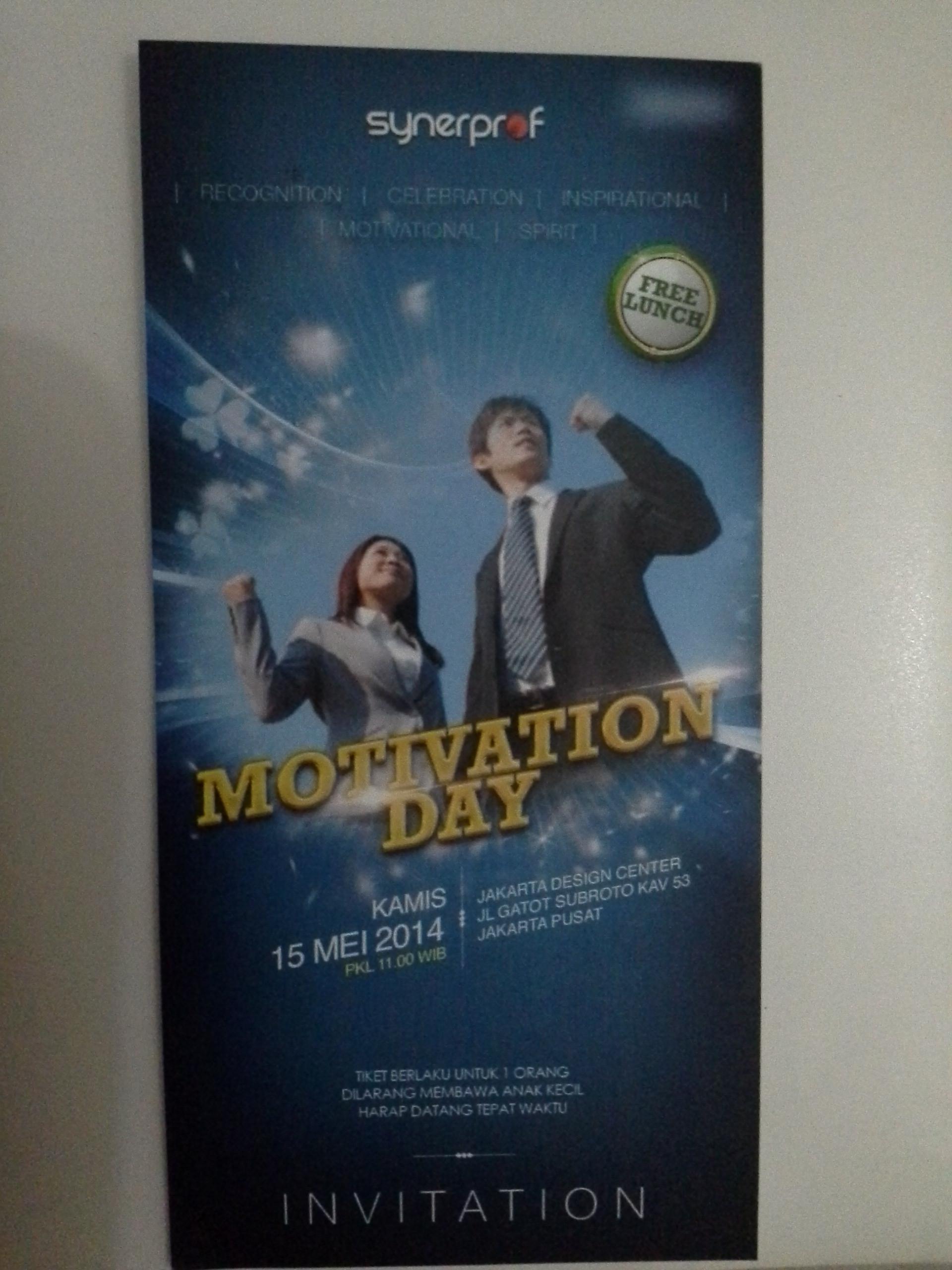 Tiket Seminar Motivasi Gratis 15 Mei 2014