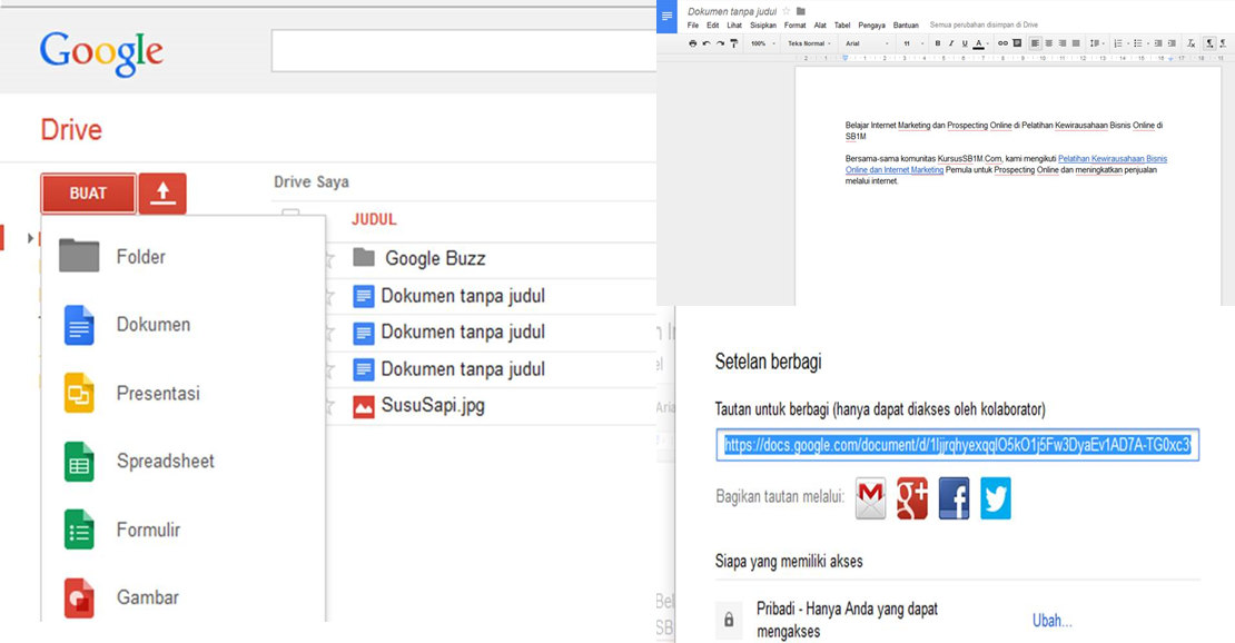 Tips Internet Pemula: Google Docs Alternatif Selain Download Aplikasi Word