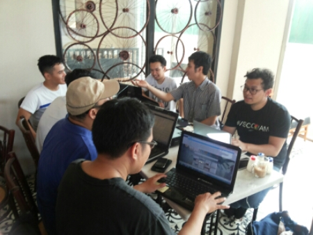 Suasana Kopi Darat Belajar Internet Marketing SB1M