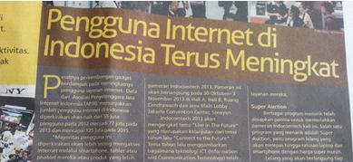 Pengguna Internet sehat indonesia