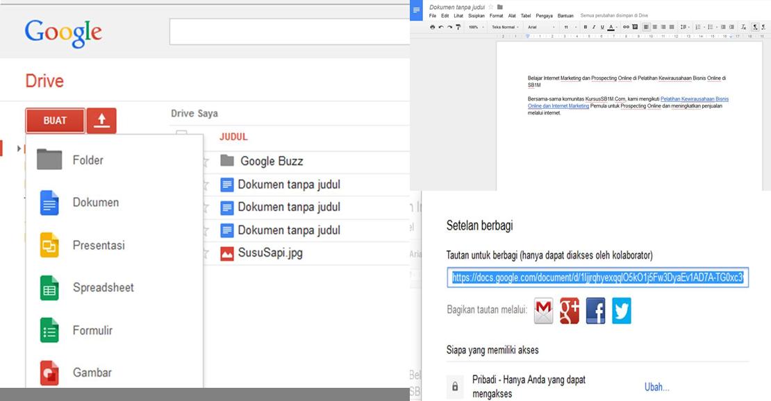 Tips Internet Pemula: Google Docs Alternatif Selain Download Aplikasi Word