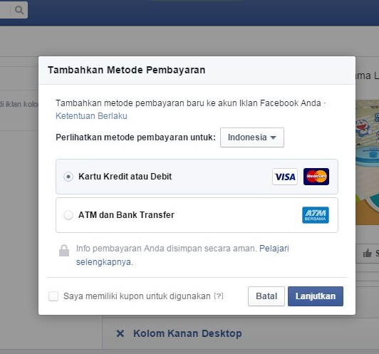 Kabar Gembira FaceBook Ngiklan FB Ads Tanpa Kartu Kredit